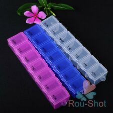 1-5X Weekly 7Days Tablet Pill Box Holder Weekly Medicine Storage Container Case