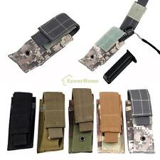 New Tactical Molle Single Pistol Mag Magazine Knife Flashlight Tool Pouch
