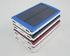 Solar Power Panel Dual USB External Mobile Battery Charger 100000mAh Power Bank