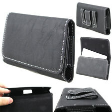 Horizontal PU Leather Belt Clip Case Holster Pouch Cover for Various Cell Phones