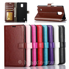 Luxury Magnetic PU Leather Wallet Stand Flip Cover Case For Samsung Galaxy Phone