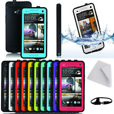 Ultra-Slim Shockproof Waterproof Durable Snow Skin Case Cover For HTC One M7