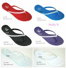New JOY Women Jelly Flat Sandal Thong Flip Flops Style Slipper Shoes Size 5-10