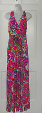 NWT LILLY PULITZER MULTI SEA AND BE SEEN PARRISH MAXI DRESS S M
