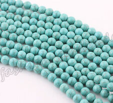Voguish Natural Turquoise Gemstone Loose Spacer Beads Charm Findings 4-10mm