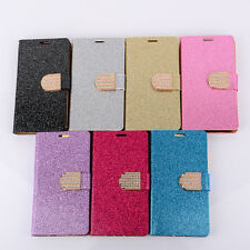 Bling Crystals Glitter Wallet Case For Samsung Note Edge For Nokia For Moto