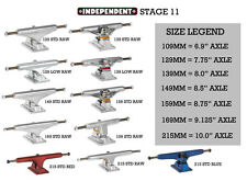 Independent Skateboard Trucks YOU CHOOSE PAIR COLOR & SIZE - INDY STAGE 11 & LOW