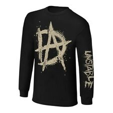 Dean Ambrose Unstable Long Sleeve WWE Authentic Mens Black T-shirt