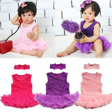 2PCS Toddle Baby Infant Clothes Headband+Romper Girl Outfits Tutus Newborn Dress