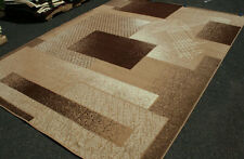 New Area Rug Beige Brown Modern Squares Fast Shipping Generations 8003