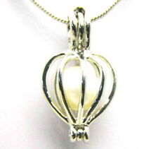 SALE Wholesale 10X Heart pendants natural Pearl Necklaces-who134 Free shipping
