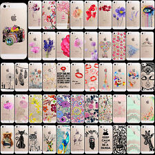 Transparent Soft Silicone Beautiful Pattern Skin For Apple iPhone 4 4S 5 5S 5C 6