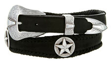 Johnson Star Cowboy Conchos 100% Genuine Durable Leather Western Scallop Belt