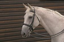 Caldene Weymouth Leather Horse Riding Double Bridle inc Reins