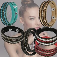 Bracelets Disco Punk Style Wristband 6 Color Party Bangles Rhinestone Wrap Cuff