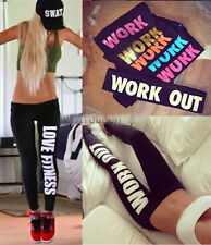 Women Leggings Gun Work Out Fitness Punk Style Gothic Apparel Print Pencil Pants