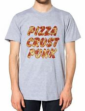 Pizza Crust Punk mens Tshirt Funny Foodie Food Hipster Womens T Shirt