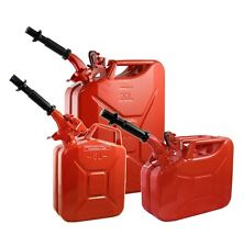 Wavian Steel Jerry Can & Spout - Red Gas Fuel Can (20L, 10L or 5L) NATO Specs