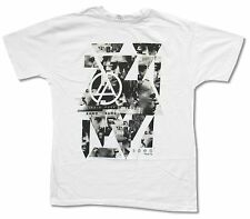 """LINKIN PARK """"SHATTERED"""" WHITE SLIM FIT T-SHIRT NEW OFFICIAL ADULT"""