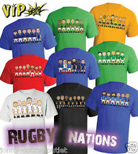 VIPwees Mens T-Shirt International Rugby Union Legends 6/Tri Nations Choose Team