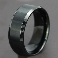 Men Stainless Steel Ring Band Titanium Silver Black Gold 5-14 Wedding Ring G30