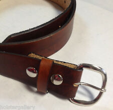 Handmade Men Western Work Holster Leather Belt | Brown | USA Made
