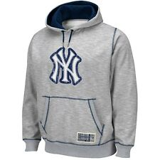 "New York Yankees ""Forged Tradition"" Heathered Grey Pullover Hoodie Fleece Men's"