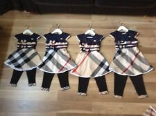 Baby girls burberry check style dress and leggings age 2-3 yrs