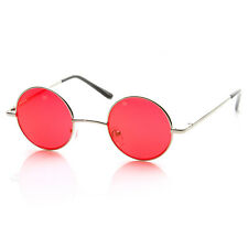 Small Metal Round Circle Ozzy Elton John Color Tint Lennon Style Sunglasses