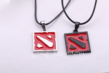 Free shipping Hot Online Game Dota 2 Metal Red/Black Symbol Pendant Necklaces
