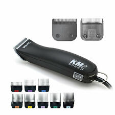 WAHL KM2 + CHOOSE BONUS 7F &/or 1-8 Metal Comb Set/Guides - KM-2 Pro Pet Clipper