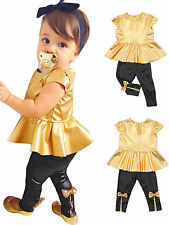 Baby Girls Golden Princess Dress Up Birthday Party Dress Fancy Costume Outfits