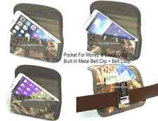 New Holster Cover Case With Metal Belt Clip FOR Smart Cell Phones Camouflage