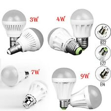 3W 4W 7W 9W E14 B22 E27 Globe  Led Bulb Light Spot Lamp Bright Day/Warm White