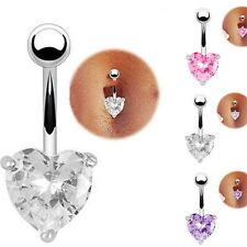 1pc Crystal Rhinestone Barbell Belly Bar Ring Button Navel Body Piercing Jewelry