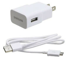 OEM SAMSUNG HOME TRAVEL WALL CHARGER AC POWER ADAPTER SYNC USB CABLE WIRE CORD