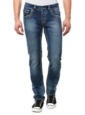 NEU BLUE MONKEY JEANS MEN BM4140B HERREN HOSE BLAU STRAIGHT FIT