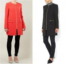 New ex Wallis Coral Red or Black Smart Collarless Jacket / Coat S M L  8-18