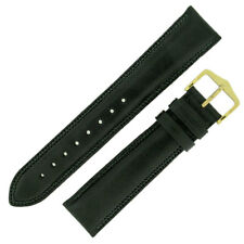 Hirsch ASCOT English Leather Watch Strap and Buckle in BLACK