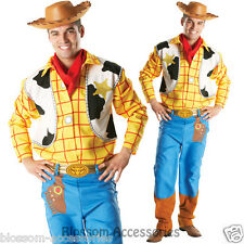 Licensed Toy Story Woody Cowboy Western Adult Mens Fancy Dress Costume & Hat