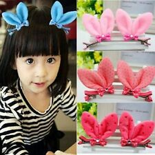 Baby Girls Child Rabbit Ear Bow Butterfly Hairclip Hairpin Headwrap Accessories