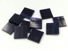 Navy Blue Wispy Mosaic Glass Tile * Cut to Order Shapes * Pack