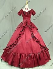 Victorian Period Dress Southern Belle Ball Gown Theater Reenactment Costume 206