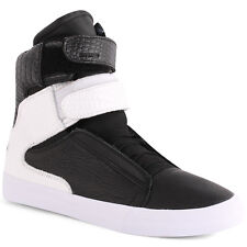 Supra Societ Coc Society II Mens Hi Top Trainers Leather Black New Shoes 6 8 11