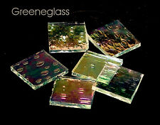 Clear Krinkle Iridized Mosaic Glass Tile * Cut to Order Shapes * Package