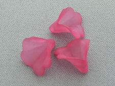 10mm 100/../1000pcs FROSTED VIOLET RED ACRYLIC PLASTIC FLOWER BEADS JJ07452
