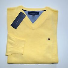 NWT Men's Tommy Hilfiger V-Neck Pacific Pullover Sweater, Yellow S, M, L, XL