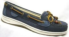 Sperry Top-Sider Angelfish Boat Shoes Navy Cotton Mesh Womens