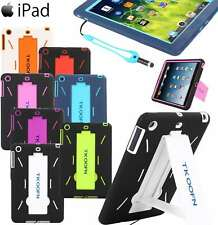 For iPad Air Hybrid Rubber Shock Proof Heavy Duty Hard Case Cover WIth Stylus
