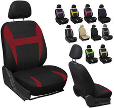 6PC Mesh Front Car Seat Headrest Cover Set Bucket Chair 11 Styles & Colors
